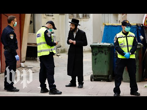 Israeli security forces crackdown on ultra-Orthodox community defying stay-at-home orders