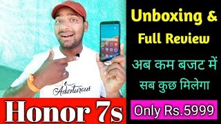 Honor 7s Review   First Look Unboxing & Best Budget Phone