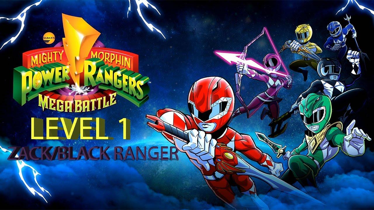 Mighty Morphin Power Rangers Mega Battle Level 1 as  Zack