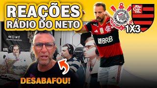 OLHA como a Rádio Craque Neto reagiu a Corinthians x Flamengo pelo Brasileirão