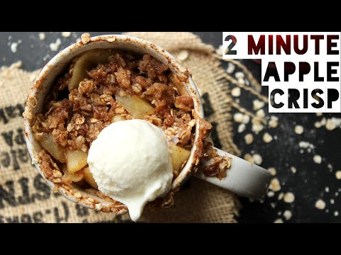 Apple Crisp In A Mug Recipe | How To Make Healthy Apple Crisp With Oats in 2 Minutes!
