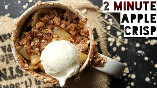 Apple Crisp In A Mug Recipe  How To Make Healthy Apple Crisp With Oats in 2 Minutes!