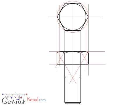Engineering Drawing Tutorials/Assembly drawing with Front view