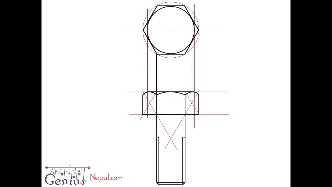 Engineering Drawing Tutorials/Assembly drawing with Front