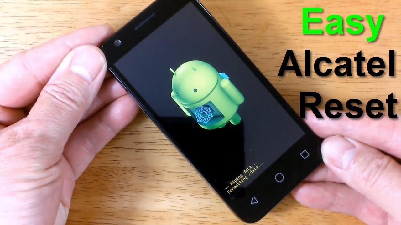 How to Reset a Alcatel Unlock plus How to Hard Reset Alcatel 1 (one) Touch  or Ideal - Free & Quick!