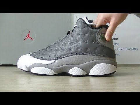 4b08f46ce2b9 First Look Air Jordan 13 Retro  Atmosphere  Grey Review - YouTube