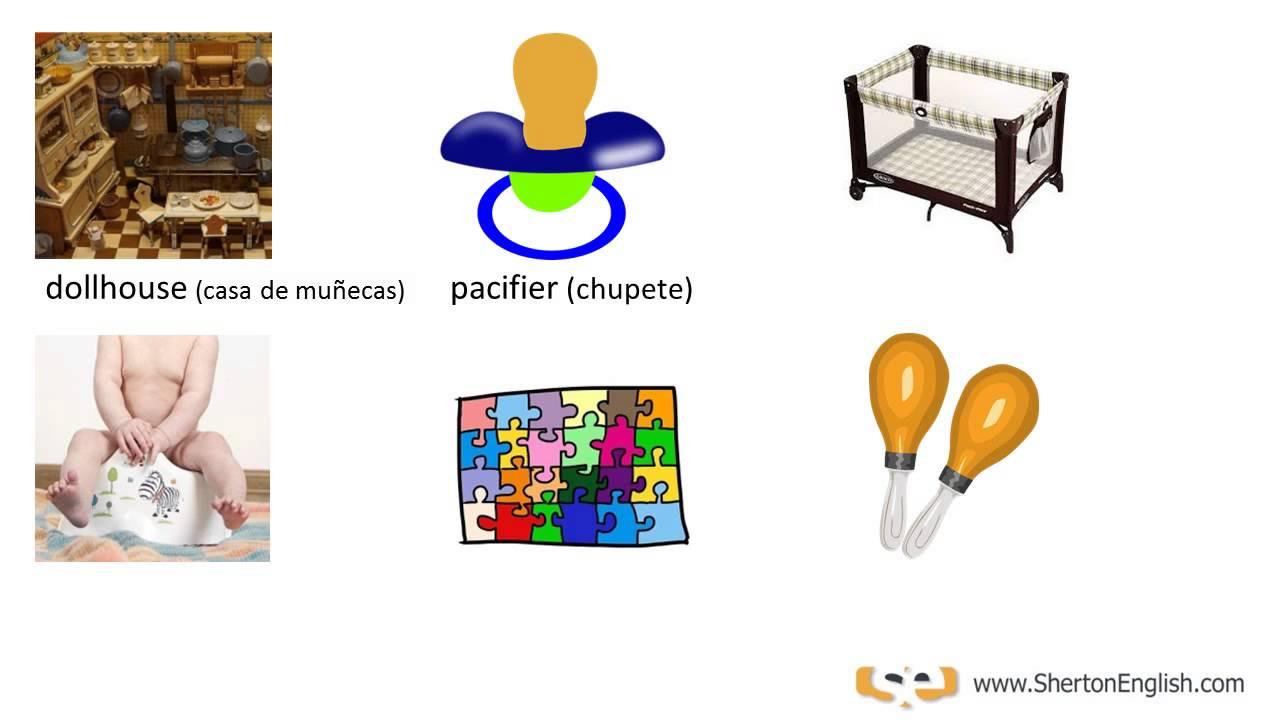 Vocabulario Inglés: El Cuarto del Bebé (The Baby Room) - YouTube
