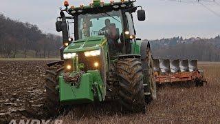 JohnDeere 8360R Ploughing 2014 *HD*