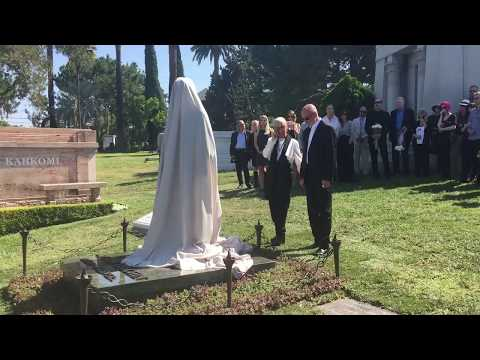 Unveiling of the ANTON YELCHIN BRONZE STATUE at Hollywood Forever Cemetery