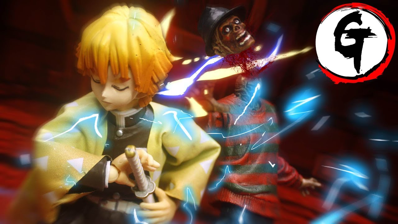 Zenitsu VS Freddy Krueger-Demon Slayer stop motion 我妻善逸VSフレディ・クルーガー -鬼滅の刃