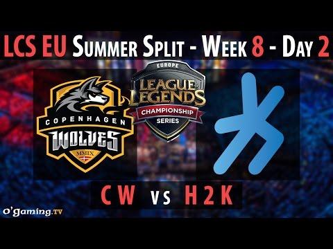 H2k Gaming vs Copenhagen Wolves - LCS EU 2015 - Summer Split - Week 8 - Day 2 - H2k vs CW [FR]