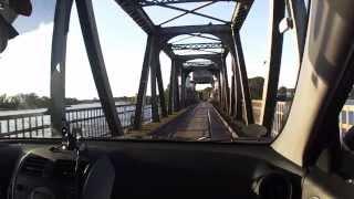 Überfahrt der Lindaunisbrücke.