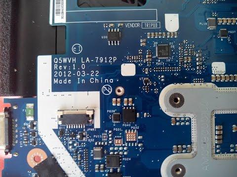 Ремонт ноутбука после другой мастерской. Платформа Compal LA-7912p Rev 1.0