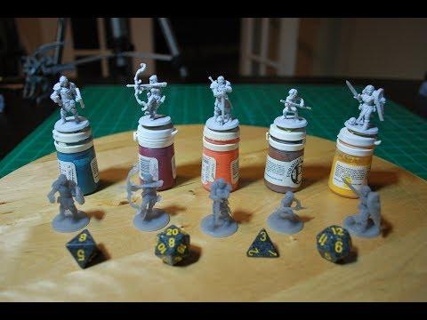 Peopoly Moai: Printing Hero Forge RPG Miniatures via Laser SLA 3d printer