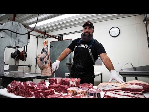 How to Butcher a Cow. | ENTIRE BREAKDOWN | by The Bearded Butchers!