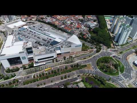 Av Nove de Julho, Jundiaí Shopping, Terminal Rodoviário , Jundiaí SP, Imagens em 4k.