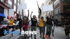 Demonstrators march through Knoxville after killing of George Floyd