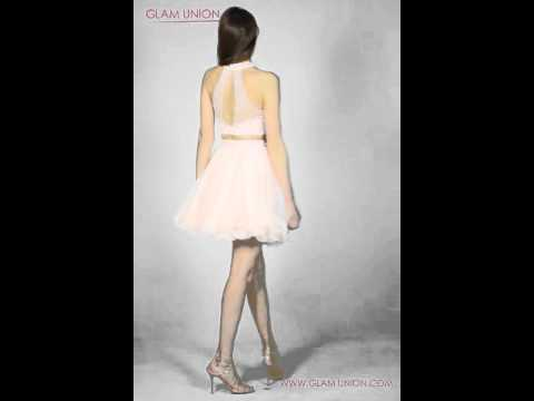 two-piece-nude-pink-short-tulle-prom-dress-|-glam-union