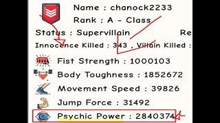 COMO UPAR PSYCHIC SUPER RAPIDO NO ROBLOX! - Simulateur d'entraînement Super Power