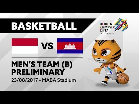 KL2017 29th SEA Games | Men's Basketball - INA 🇮🇩 vs CAM 🇰🇭  | 23/08/2017