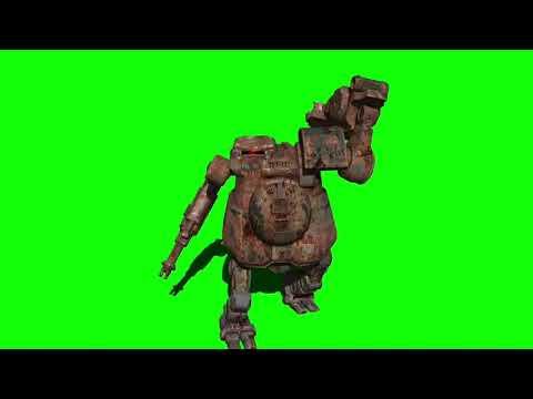Green Screen Robot 3 / Robot smashes something thumbnail