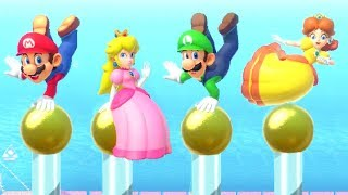 Mario Party Series Minigames - Mario vs Luigi vs Peach vs Daisy