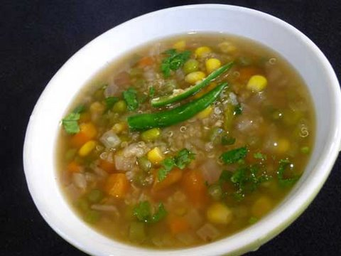 How to make Quinoa Soup - Vegetarian Recipe