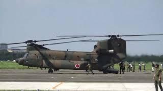 搭乗からTaxi out~離陸/CH-47JA大型ヘリ.