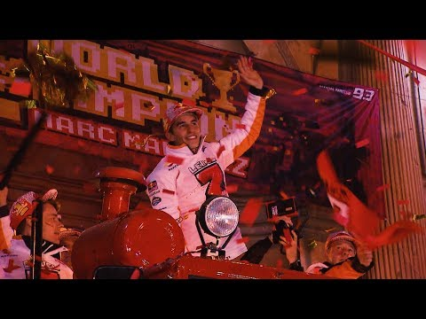 World Championship party in Marquez' home town