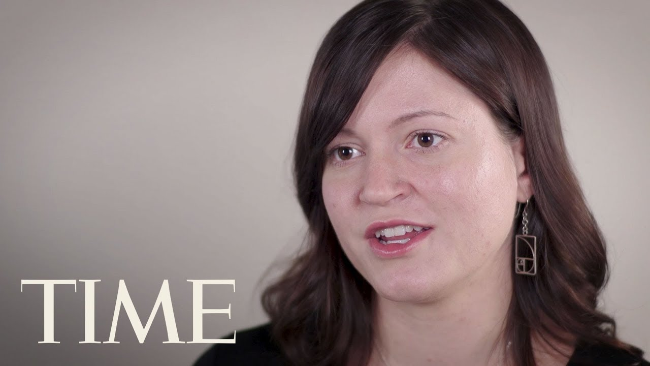 Susan Fowler, who bravely denounced Uber's toxic culture, next to TIME Magazine's logo