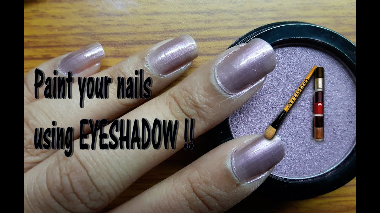 Paint Your Nails Using EYESHADOW - Artistros Quick & Easy Nail Art ...