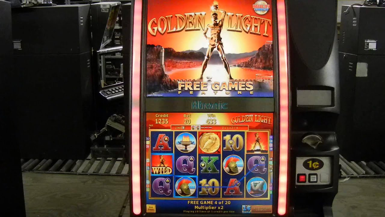 93f1c1dce41 Atronic eMotion GOLDEN LIGHT Video Slot Machine - YouTube