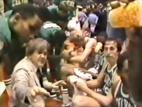 Bill Fitch Denies Cameras Access to His Huddle (1981 Finals) (Game 6)