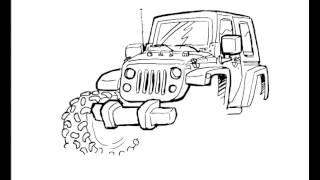 Jeep JK How To Draw Jeeps