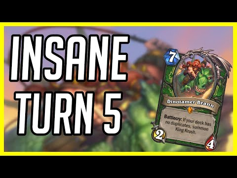 (Hearthstone) This Was An INSANE Turn 5   Highlander Dragon Hunter   Descent Of Dragons