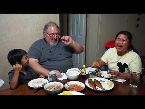 FILIPINO AMERICAN LIFE IN AMERICA MUKBANG TIME BANGUS TINAPA SINIGANG