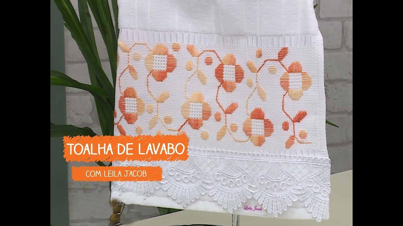 Armario Roupeiro De Aço ~ Toalha de Lavabo com Leila Jacob Vitrine do Artesanato na TV Rede Família YouTube