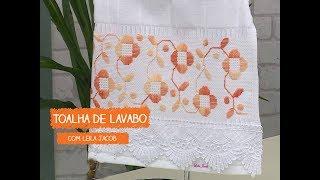 Toalha de Lavabo com Leila Jacob