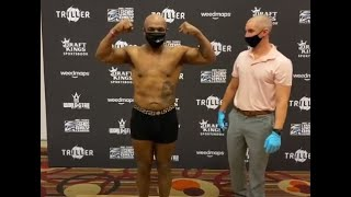 "EXCLUSIVE: MIKE TYSON LOOKS RIPPED & READY, WEIGHS 220.4 LBS FOR ROY JONES -""FIGHTING IS EASY PART!"""