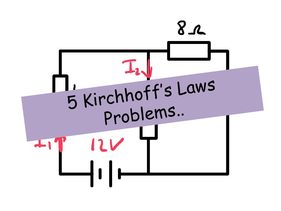 kirchhoff's Law Problems - A level Physics