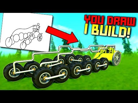 Whatever You Draw, I Try to BUILD IT! [YDIB 2] - Scrap Mechanic Gameplay