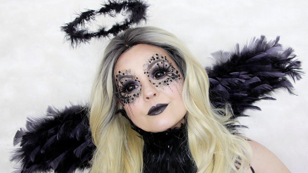 Dark Angel Makeup Tutorial Maquiagem De Anjo Negro Halloween Makeup Tutorial Youtube