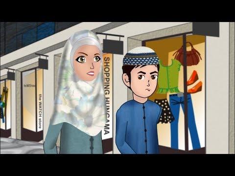 Abdul Bari went to visit sick Sumayya Urdu Islamic Cartoons for children