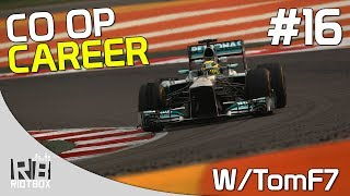 F1 2013 CO OP Career Mode Walkthrough PC Mercedes - Part 16 - India (with TomF7)