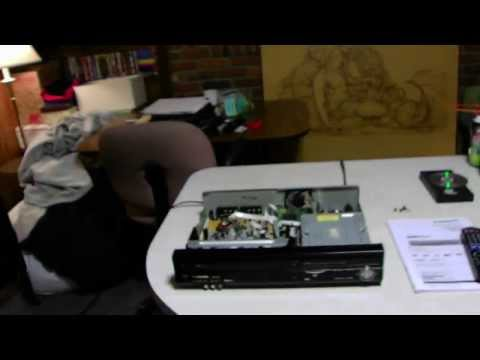 How to you clean a DVD player VCR combo if it has dust inside of it