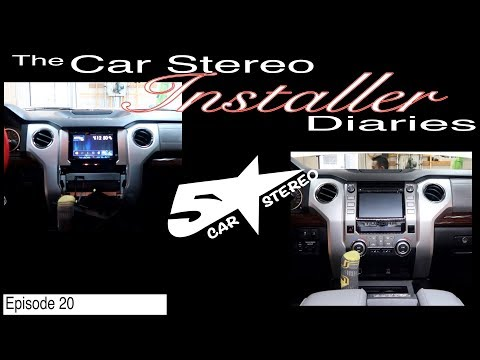 Toyota Tundra Factory Stereo Upgrade! Installer Diaries 20