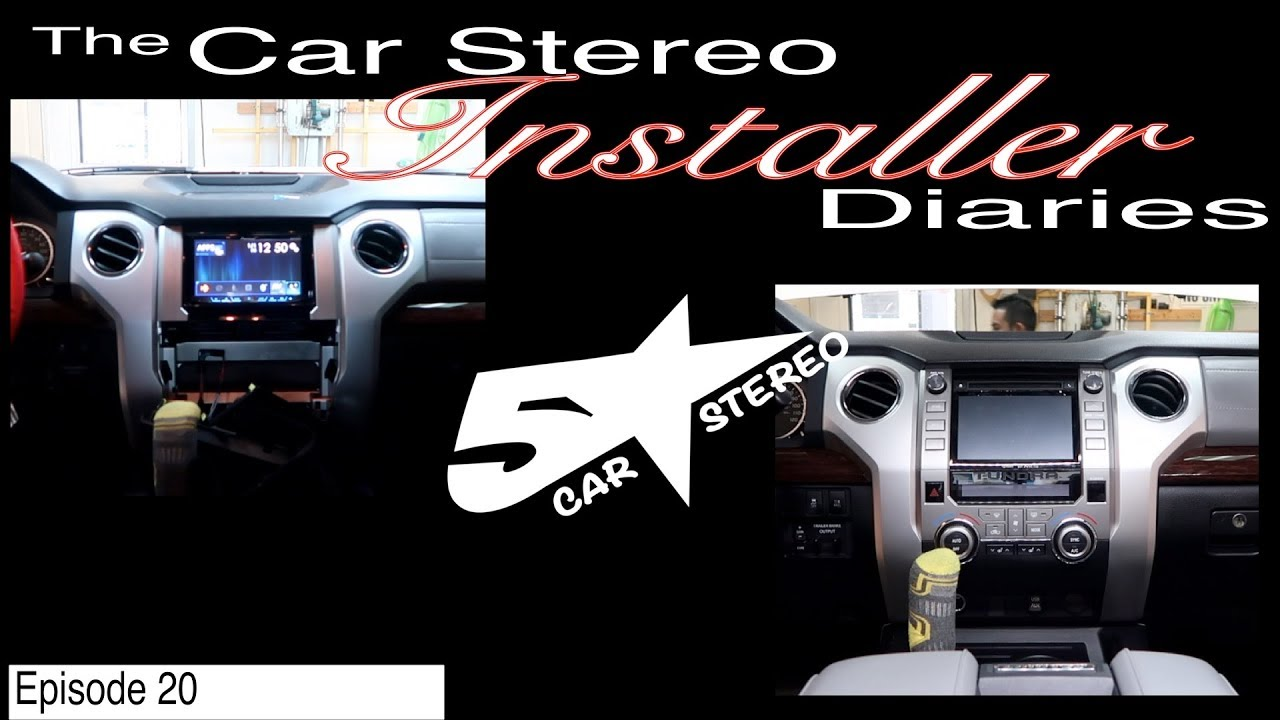 toyota tundra factory stereo upgrade installer diaries 20 [ 1280 x 720 Pixel ]