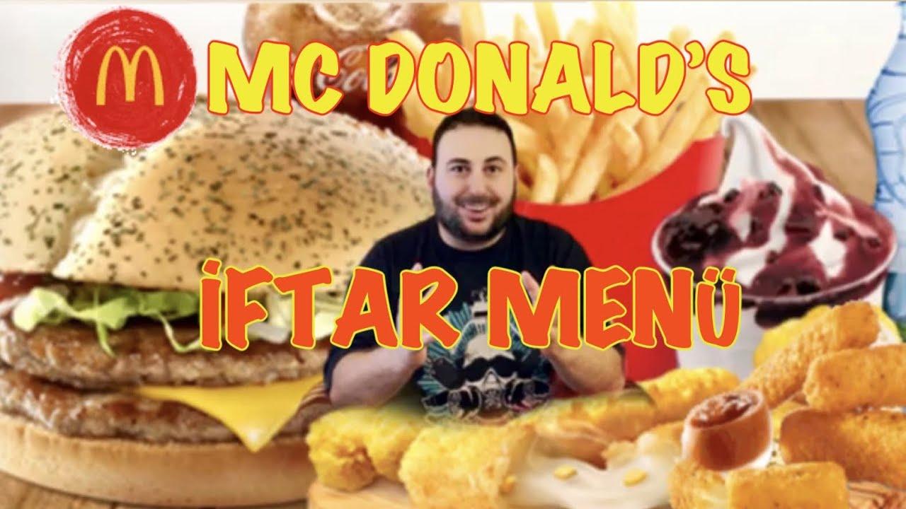 Mc Donald's İftar Menüsü İncelemesi Eve Sipariş  bir nevi mukbang