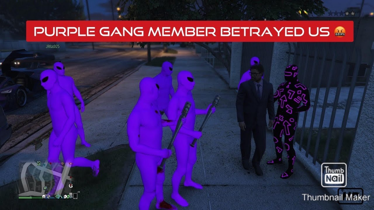GTA 5 Online : PURPLE Gang Member Betrayed us (PS4)
