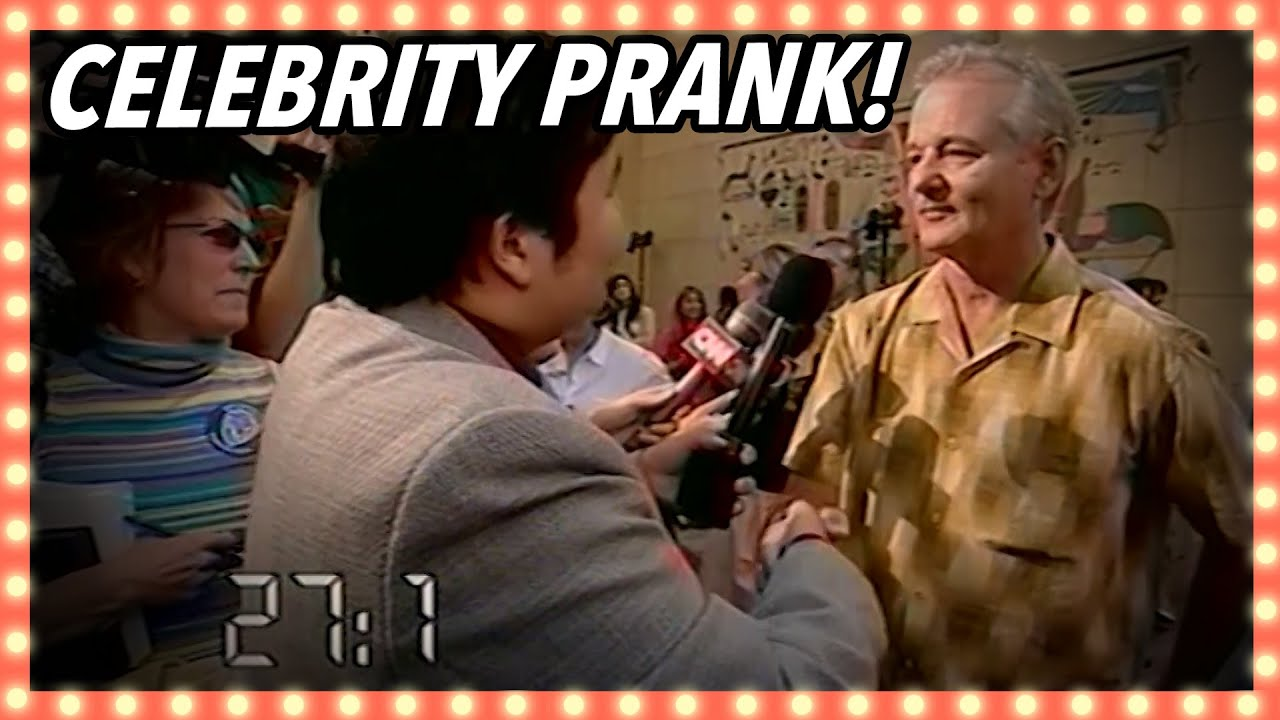 Not Letting Go Of Bill Murray's Hand | Celebrity Pranks | Banzai!